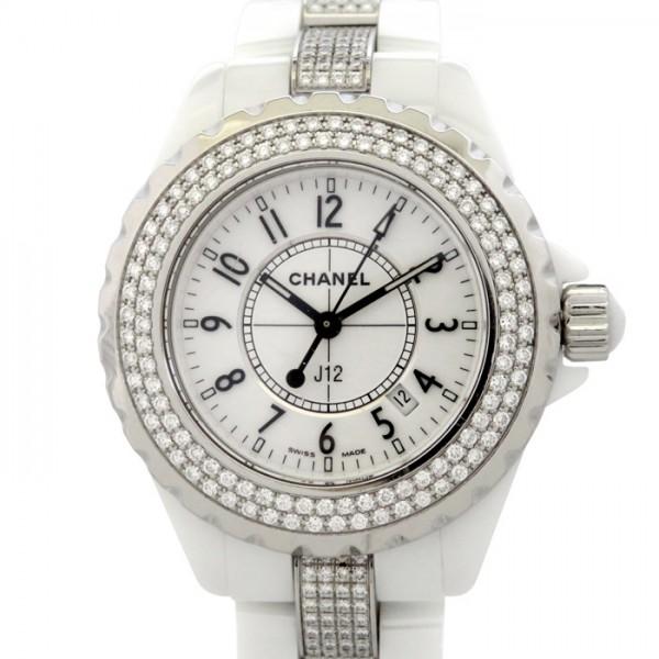 シャネル CHANEL J12 H1420 ホワイト文字盤 レディース 腕時計 【中古】