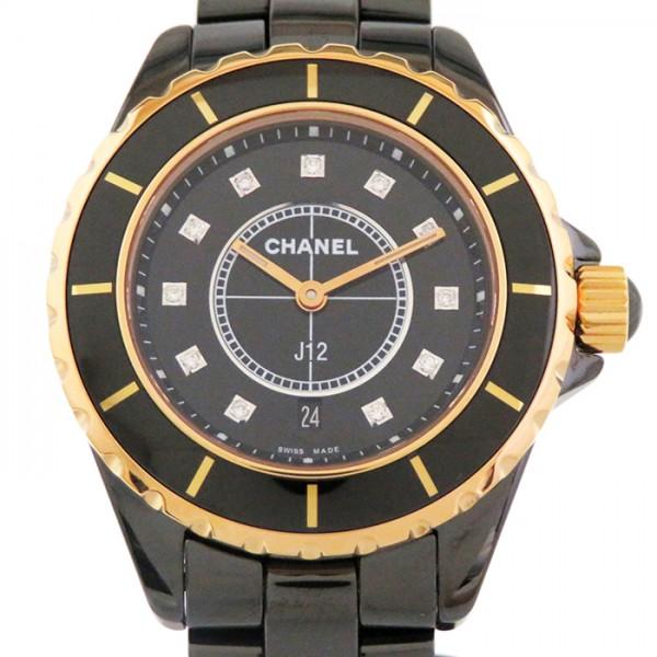 シャネル CHANEL J12 H2543 ブラック文字盤 レディース 腕時計 【新品】