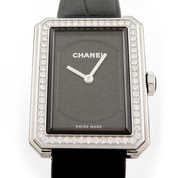 シャネル CHANEL ボーイフレンド ベゼルダイヤ H4883 ブラック文字盤 レディース 腕時計 【新品】