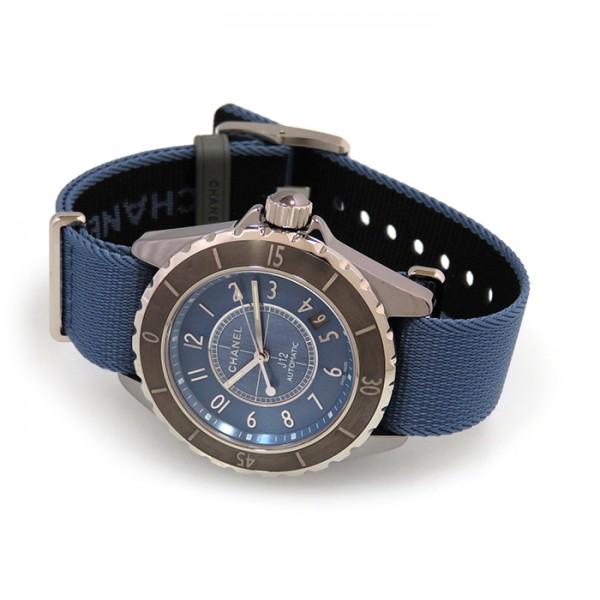 シャネル CHANEL J12 G.10 H4338 ブルー文字盤 メンズ 腕時計 【新品】