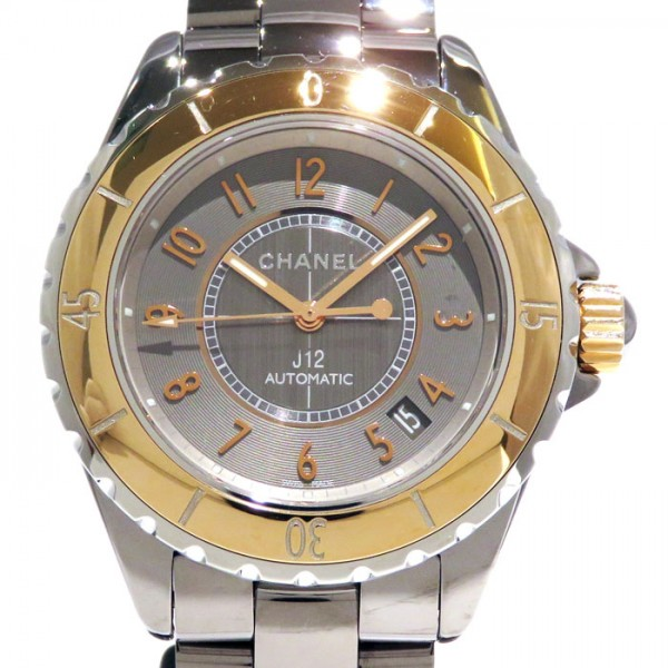 シャネル CHANEL J12 クロマティック H4185 グレー文字盤 メンズ 腕時計 【新品】