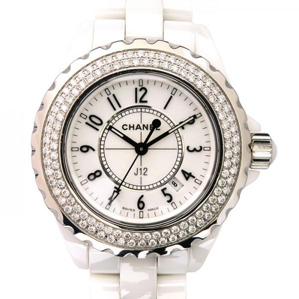 【売り切り御免!】 シャネル CHANEL J12 38mm ベゼルダイヤ H0969 ブラック文字盤  腕時計 メンズ, 造花の専門店 きつつき 17b8aded