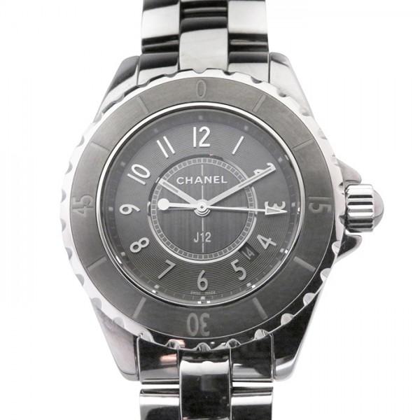 シャネル CHANEL J12 クロマティック H2978 グレー文字盤 レディース 腕時計 【中古】