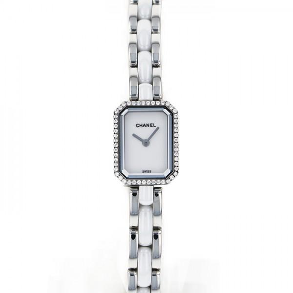 シャネル CHANEL プルミエール リプルブレスレット ベゼルダイヤ H3059 ホワイト文字盤 レディース 腕時計 【中古】