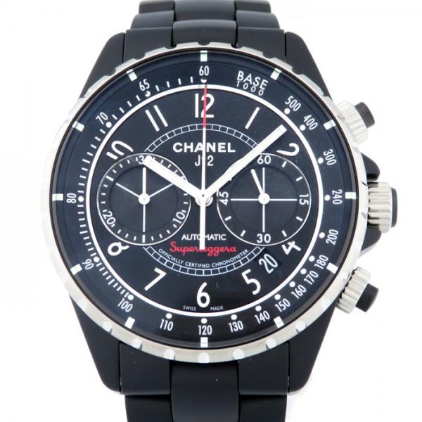 【期間限定ポイント5倍 5/5~5/31】 シャネル CHANEL J12 スーパーレッジェーラ H3409 ブラック文字盤 メンズ 腕時計 【新品】