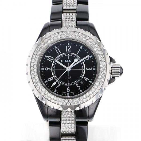 シャネル CHANEL J12 H1338 ブラック文字盤 レディース 腕時計 【中古】