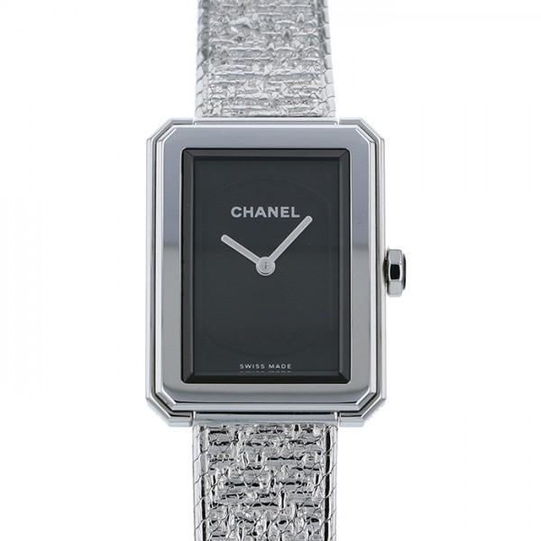 シャネル CHANEL ボーイフレンド ツイード S H4876 ブラック文字盤 レディース 腕時計 【中古】