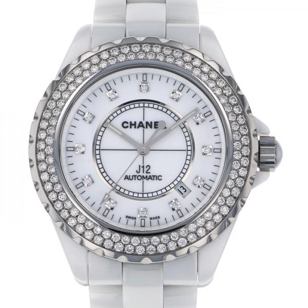 シャネル CHANEL J12 42 H2013 ホワイト文字盤 メンズ 腕時計 【中古】