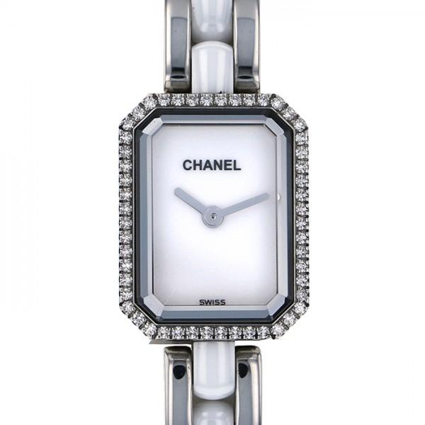 シャネル CHANEL プルミエール ベゼルダイヤ H2132 ホワイト文字盤 レディース 腕時計 【中古】