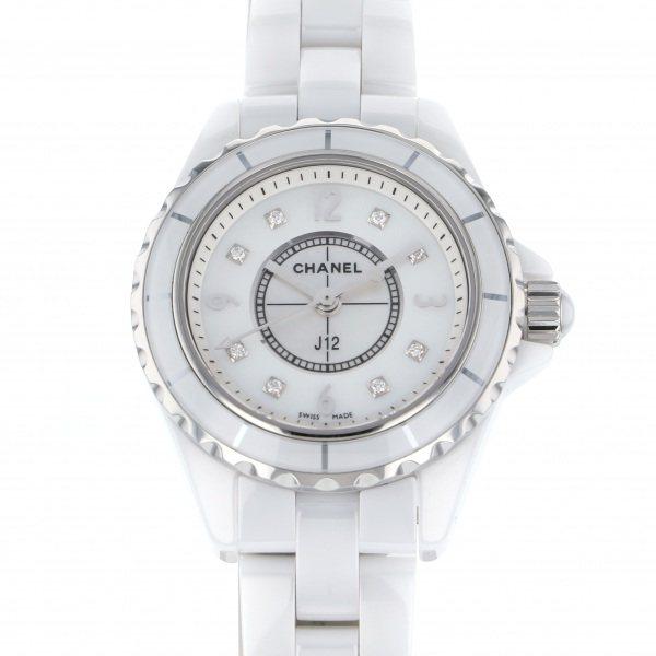 シャネル CHANEL J12 29mm H2570 ホワイト文字盤 レディース 腕時計 【中古】