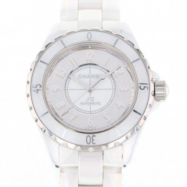 シャネル CHANEL J12 38mm ミラー 世界限定1200本 H4862 ホワイト/ミラー文字盤 メンズ 腕時計 【中古】