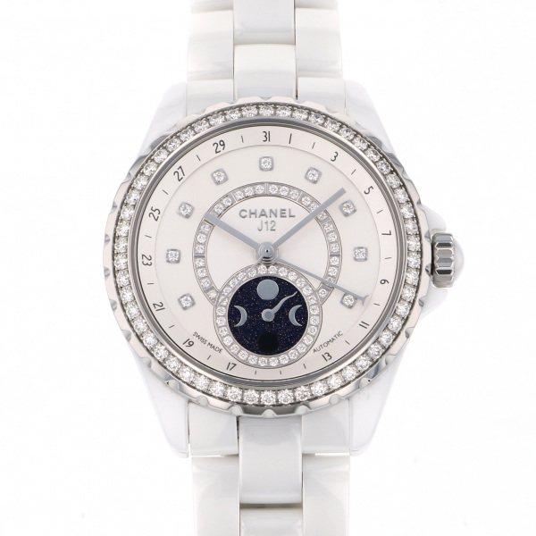 シャネル CHANEL J12 ファーズ ドゥ リュヌ H3405 ホワイト文字盤 メンズ 腕時計 【中古】