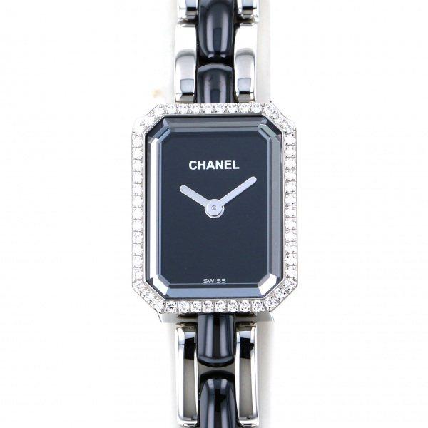 シャネル CHANEL プルミエール H2163 ブラック文字盤 レディース 腕時計 【新品】