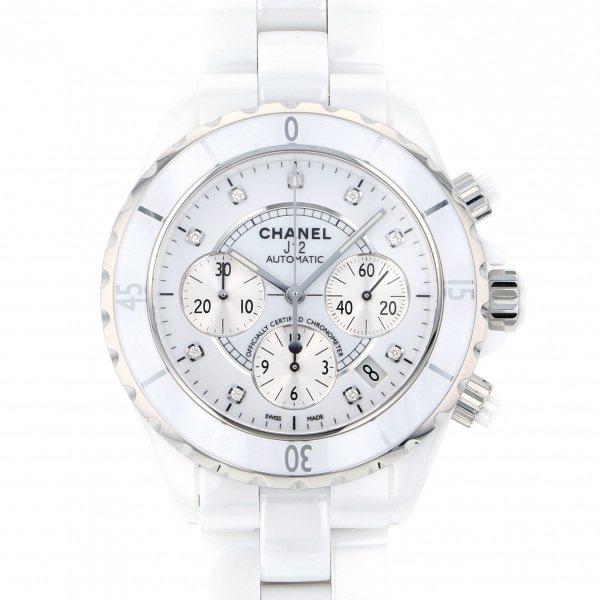シャネル CHANEL J12 クロノグラフ H2009 シルバー文字盤 メンズ 腕時計 【新品】