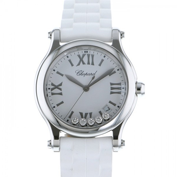 ショパール CHOPARD その他 ハッピースポーツ 36mm 278582-3001 ホワイト文字盤 レディース 腕時計 【新品】