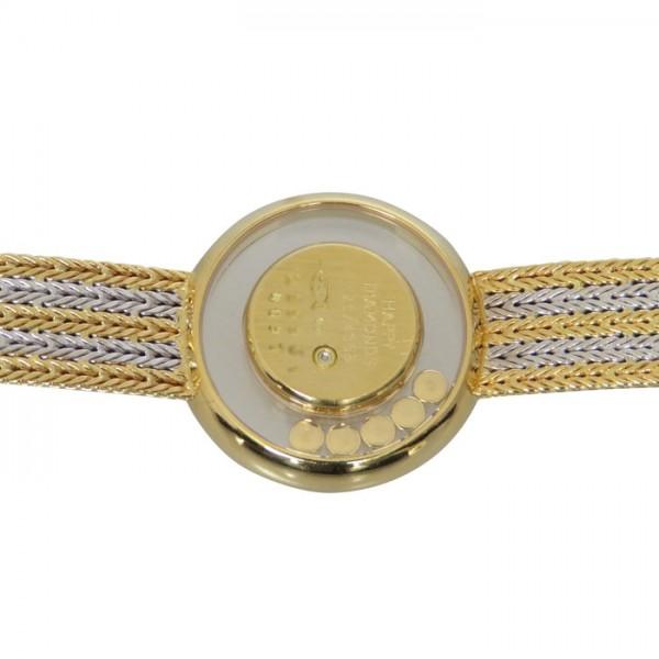 aaa89f4ce3 ショパール 【中古】 腕時計 レディース シャンパン文字盤 YG/WG 20/4355 ...