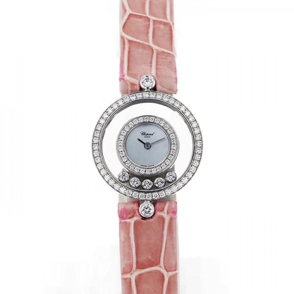 ファッションの ショパール Chopard ショパール ハッピーダイヤモンド ホワイト文字盤 4097/1 レディース ホワイト文字盤 腕時計 レディース, かにのマルマサ【北海道】:e14d5593 --- yatenderrao.com
