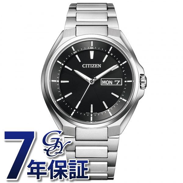 シチズン CITIZEN アテッサ AT6050-54E ブラック文字盤 メンズ 腕時計 【新品】