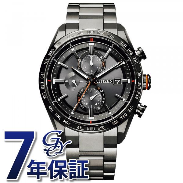 シチズン CITIZEN アテッサ AT8185-62E ブラック文字盤 メンズ 腕時計 【新品】