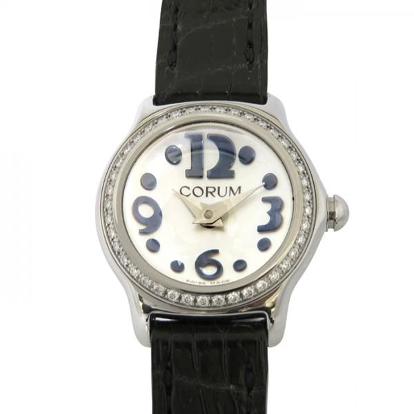 コルム CORUM その他 ミニバブル ベゼルダイヤ - ホワイト文字盤 レディース 腕時計 【新品】
