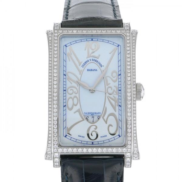クエルボ・イ・ソブリノス CUERVO Y SOBRINOS プロミネンテ 1012-1CEG-S3 ブルー文字盤 メンズ 腕時計 【新品】