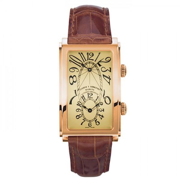 クエルボ・イ・ソブリノス CUERVO Y SOBRINOS プロミネンテ デュアルタイム 1112-8C アイボリー文字盤 メンズ 腕時計 【新品】