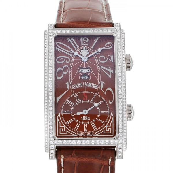 クエルボ・イ・ソブリノス CUERVO Y SOBRINOS プロミネンテ デュアルタイム デイデイト 1124-1ATG-SP ブラウン文字盤 メンズ 腕時計 【新品】