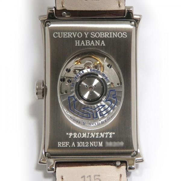 クエルボ・イ・ソブリノス CUERVO Y SOBRINOS プロミネンテ ベゼルダイヤ 1012-1CHG-G アイボリー文字盤 メンズ 腕時計 【新品】