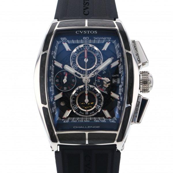 クストス CVSTOS その他 チャレンジ クロノII カーボン CVT-CHR2-CARBON ST ブラック文字盤 メンズ 腕時計 【新品】