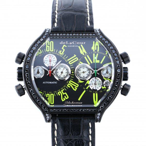 ドゥラクール DELACOUR その他 ビクロノSII WAST2243-0980 ブラック文字盤 メンズ 腕時計 【中古】