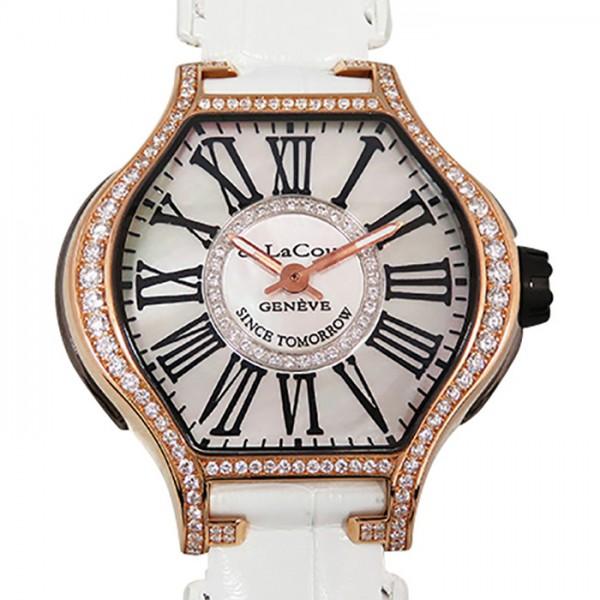 ドゥラクール DELACOUR リープ S WAPS0013-1459 ホワイトシェル文字盤 ボーイズ 腕時計 【中古】