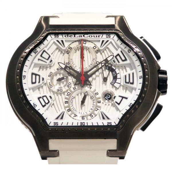 ドゥラクール DELACOUR シティ・エピソード WATI0074-1430 ホワイト文字盤 メンズ 腕時計 【新品】
