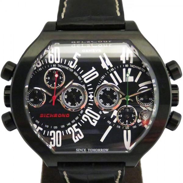 ドゥラクール DELACOUR その他 ビクロノ S2 WAST2641-1616 ブラック文字盤 メンズ 腕時計 【新品】
