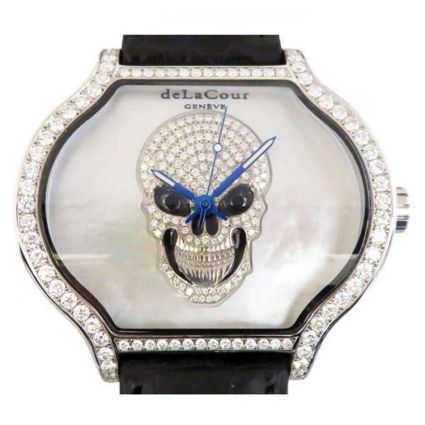 ドゥラクール DELACOUR その他 シティミディアムスカル ベゼルダイヤ WAST2719-1721 ホワイト文字盤 メンズ 腕時計 【新品】