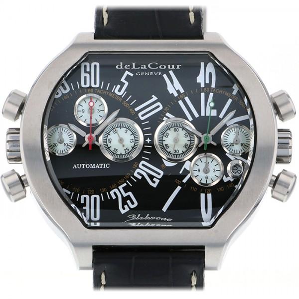 ドゥラクール DELACOUR その他 ビクロノ S2 WAST2129-0979 ブラック文字盤 メンズ 腕時計 【中古】