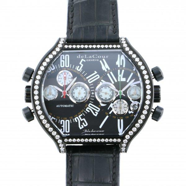 ドゥラクール DELACOUR その他 ビクロノ S2 ベゼルダイヤ WAST2237-0979 ブラック文字盤 メンズ 腕時計 【中古】