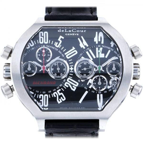 ドゥラクール ビクロノ メンズ その他 腕時計 ブラック文字盤 WAST2639-1616 【新品】 DELACOUR