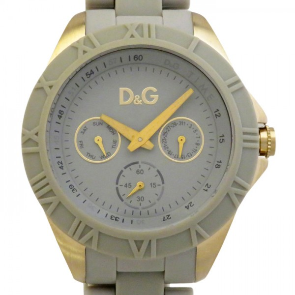 【全品 ポイント10倍 4/9~4/16】ドルチェ&ガッバーナ D&G その他 ラウンド 腕時計 DW0781 グレー文字盤 メンズ 腕時計 【中古】
