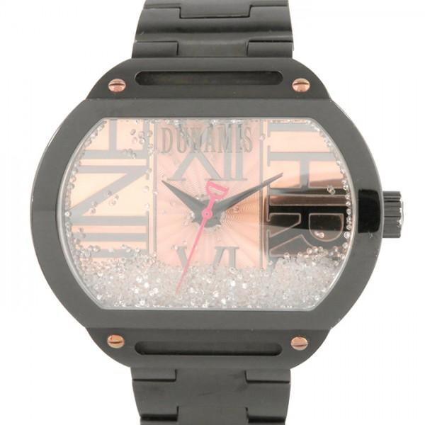 デュナミス DUNAMIS スパルタン SP-B42 ピンク文字盤 メンズ 腕時計 【中古】