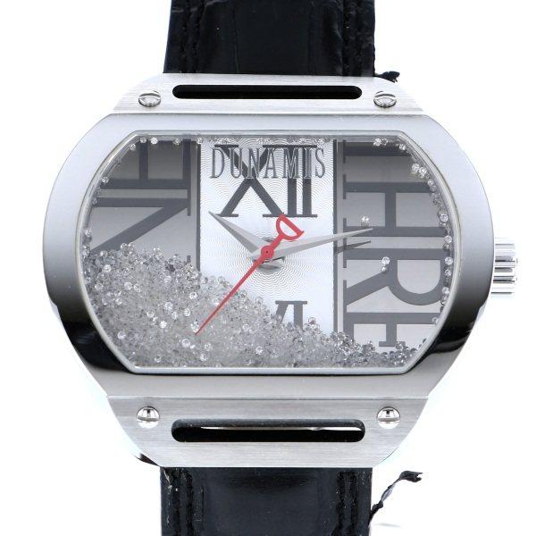 【全品 ポイント10倍 4/9~4/16】デュナミス DUNAMIS スパルタン SP-S35 シルバー文字盤 メンズ 腕時計 【中古】