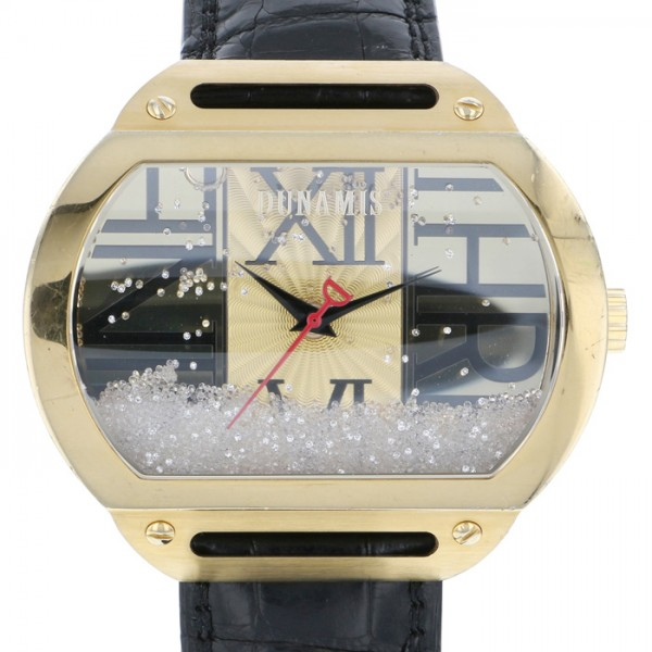 【全品 ポイント10倍 4/9~4/16】デュナミス DUNAMIS ヘラクレス HE-Y1 ゴールド文字盤 メンズ 腕時計 【中古】