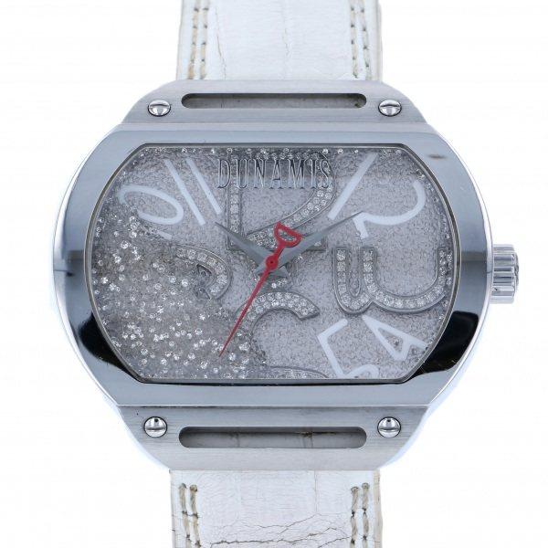 デュナミス DUNAMIS スパルタン SP-S20 シルバー文字盤 メンズ 腕時計 【中古】