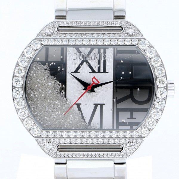 デュナミス DUNAMIS ヘラクレス HE-S15 シルバー文字盤 メンズ 腕時計 【中古】