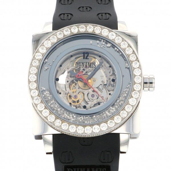 <title>デュナミス DUNAMIS 人気の定番 ヒュブリス HU-S7 シルバー文字盤 中古 腕時計 メンズ</title>