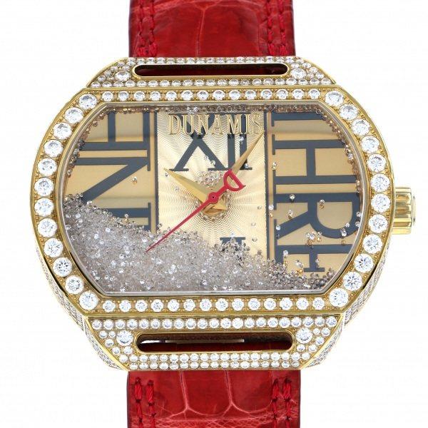 【全品 ポイント10倍 4/9~4/16】デュナミス DUNAMIS スパルタン SP-Y13 ゴールド文字盤 メンズ 腕時計 【中古】