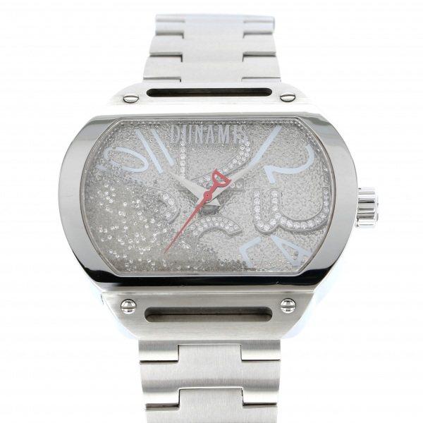 【全品 ポイント10倍 4/9~4/16】デュナミス DUNAMIS スパルタン SP-S20 シルバー文字盤 メンズ 腕時計 【中古】