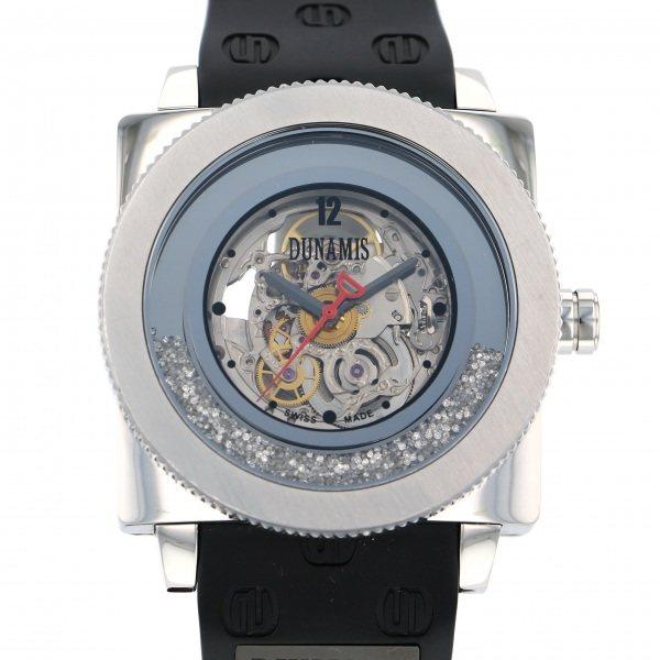 デュナミス DUNAMIS ヒュブリス HU-SS1 シルバー文字盤 メンズ 腕時計 【中古】