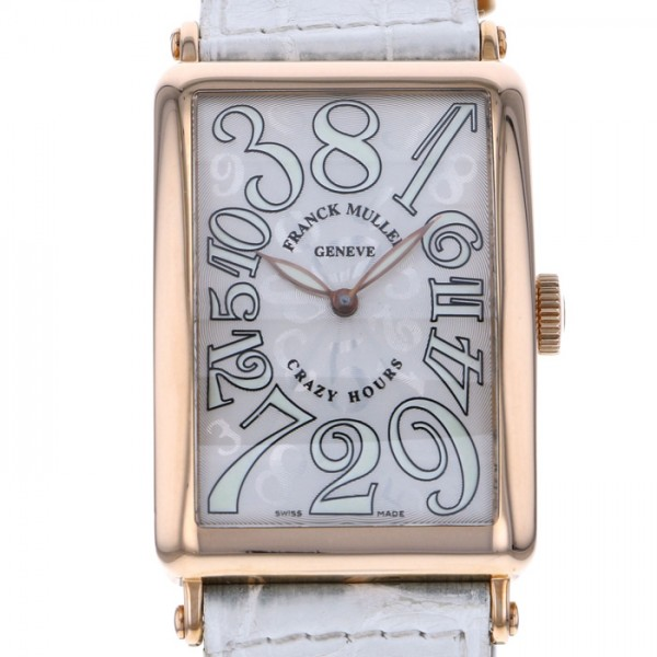 【全品 ポイント10倍 4/9~4/16】フランク・ミュラー FRANCK MULLER ロングアイランド クレイジーアワーズ 1200CH シルバー文字盤 メンズ 腕時計 【中古】