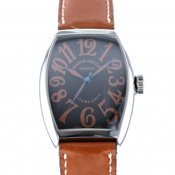 【全品 ポイント10倍 4/9~4/16】フランク・ミュラー FRANCK MULLER カサブランカ サハラ 5850CASA SAHARA ブラック文字盤 メンズ 腕時計 【中古】