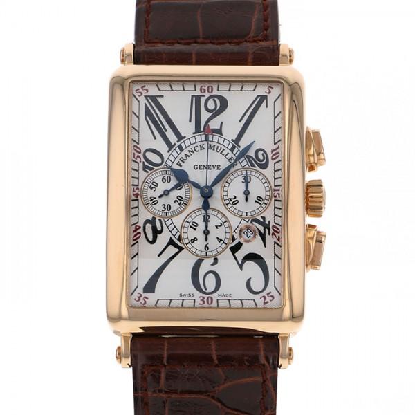【全品 ポイント10倍 4/9~4/16】フランク・ミュラー FRANCK MULLER ロングアイランド クロノグラフ 1200CC AT シルバー文字盤 メンズ 腕時計 【中古】